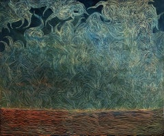 The Dynamics Of Inaction - Contemporary Nature Oil Painting, Abstraction