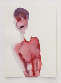 Self Portrait - Contemporary Figurative Watercolor Painting, New Expressionism