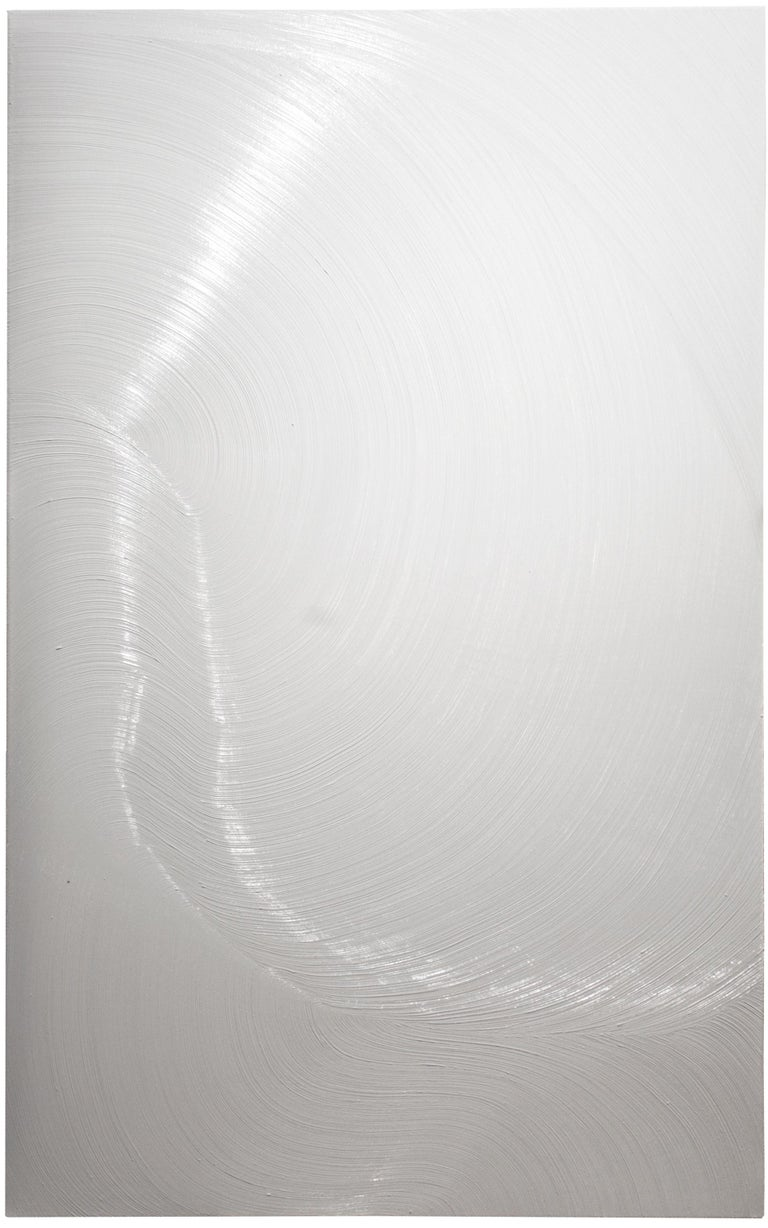 WHITE V - Contemporary Abstract Oil Painting, Minimalistic, Color Field  4