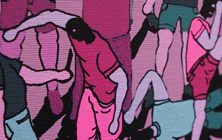 Street Fight - Polish Young Art, Contemporary Figurative Painting, Street Art For Sale 3
