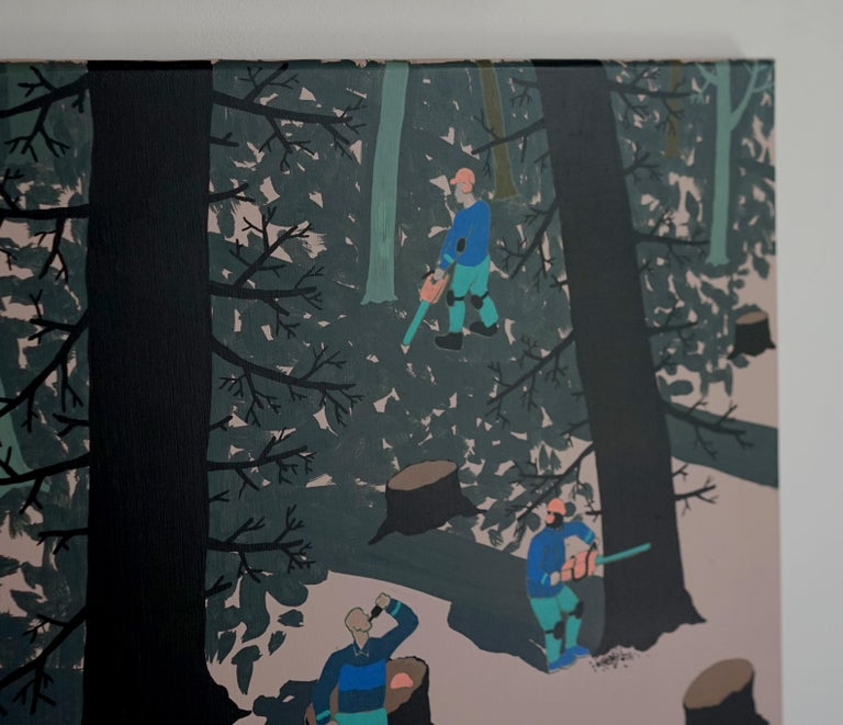 The Forest - Polish Young Art, Contemporary Figurative Painting, Street Art For Sale 1