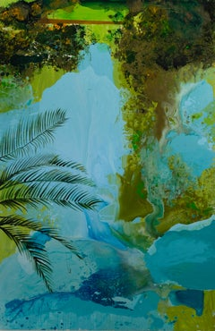 Botanic Garden - Large Format, Contemporary Landscape Painting, Nature,Palm Tree