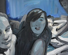 Camera 3 - Contemporary Expressive Figurative Oil Painting, Erotic Scenes