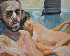 Camera 8 - Contemporary Expressive Figurative Oil Painting, Men Erotic Scenes