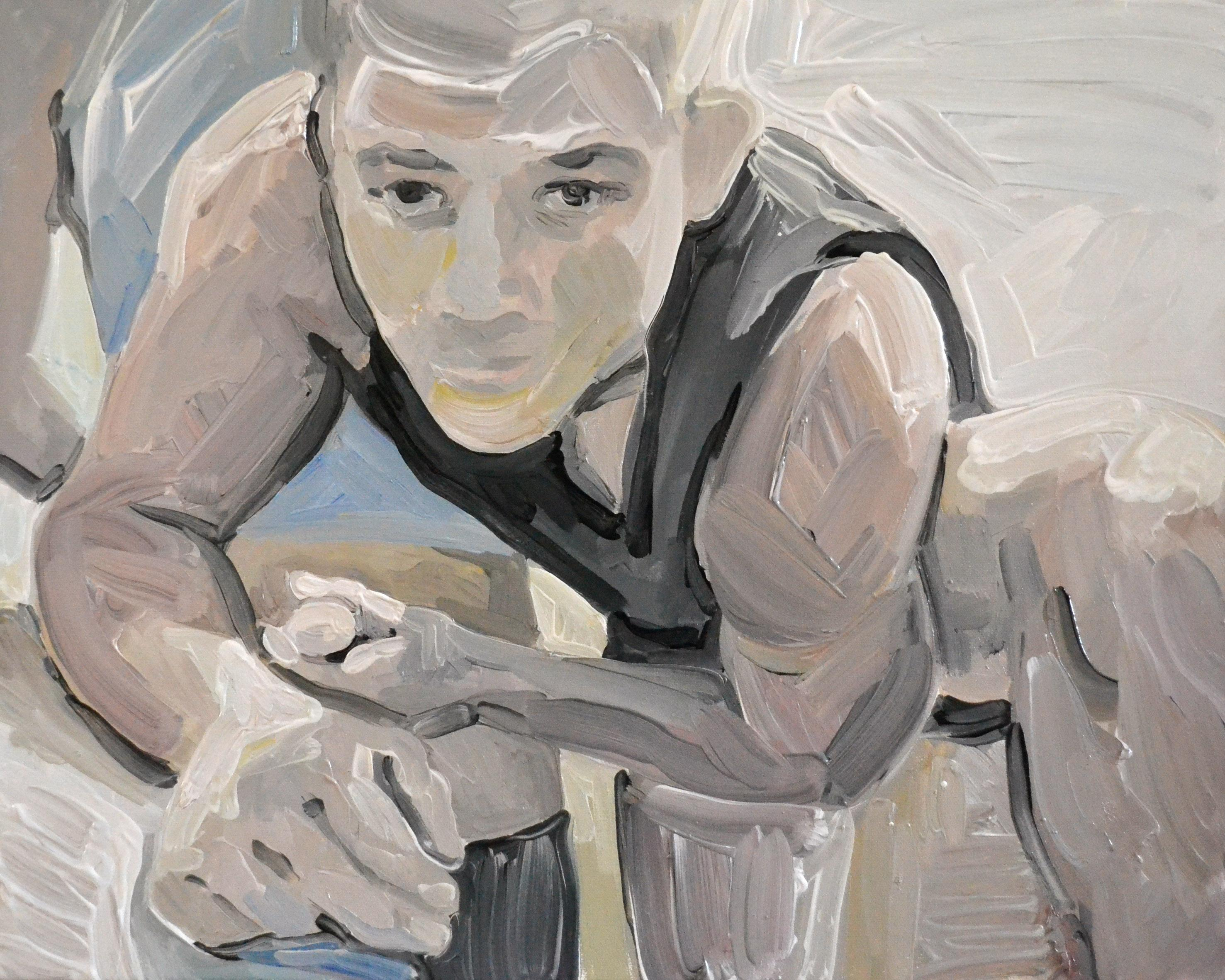 Camera 13 - Contemporary Expressive Figurative Oil Painting, Men Erotic Scenes