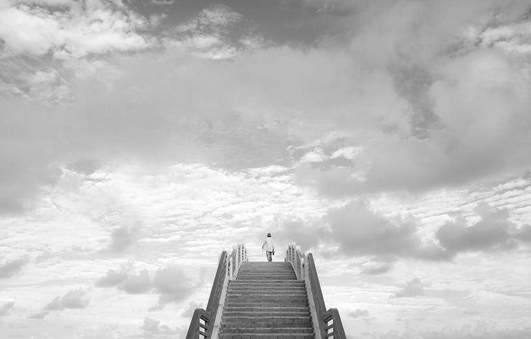 Marcin Ryczek Black and White Photograph - Upwards - Contemporary Minimalist And Symbolic Photography, Black White