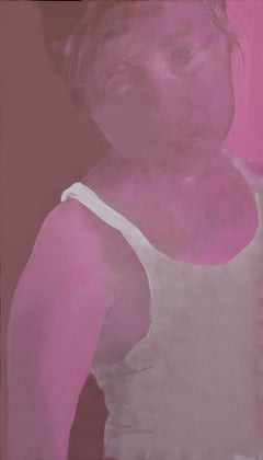 Untitled  (Girl In White Shirt) - Contemporary Figurative, Large Format Painting