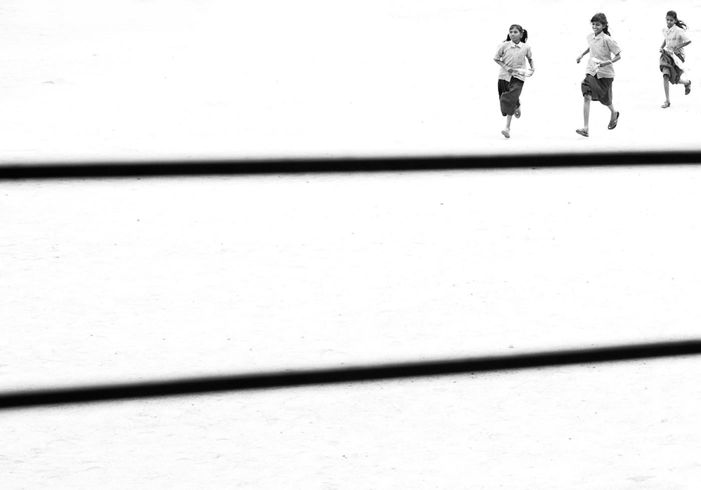 Running - Contemporary Minimalist And Symbolic Photography, Black And White