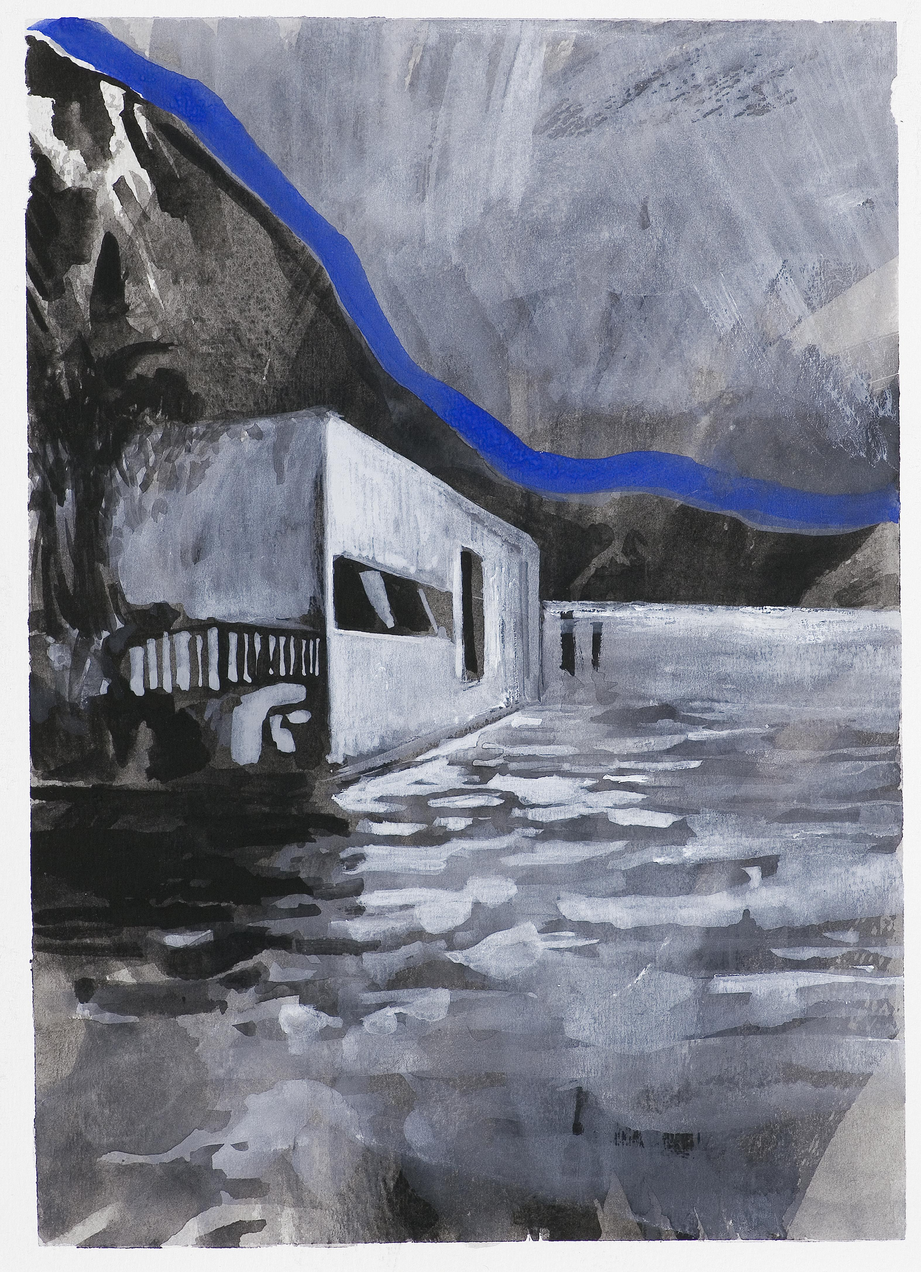 Form 2 - Contemporary Landscape Painting, Cityscape, Architectural Painting