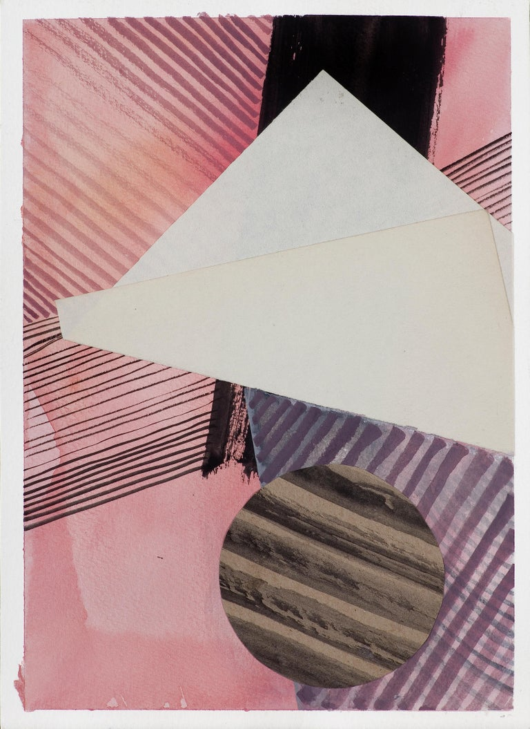 Composition 2 - Collage and Painting On Paper - Mixed Media Art by Monika Stolarska