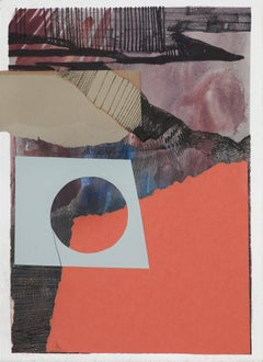 Composition 4 - Collage and Painting On Paper