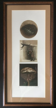 Leaves, Twigs and Trees Triptych - Figurative Mixed Med Print, small edition 2/X