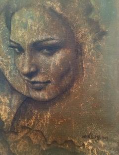 Portrait Of A Young Woman 1 - Figurative Oil Painting, New Renaissance