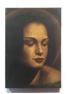 Portrait Of A Young Woman 2 - Figurative Oil Painting, New Renaissance
