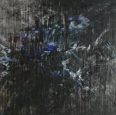 Twilight -  Contemporary Nature Oil Painting, Abstract Plants And Flowers