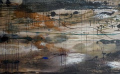 Scenery In Construction II - Contemporary Nature, Landscape Abstract Painting
