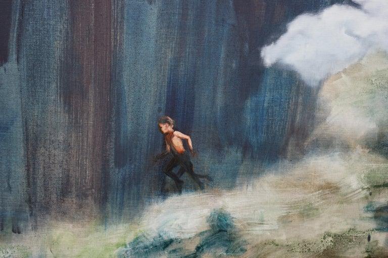 Escape - Large Format Contemporary Nature Oil Painting, Landscape, Mountains For Sale 2