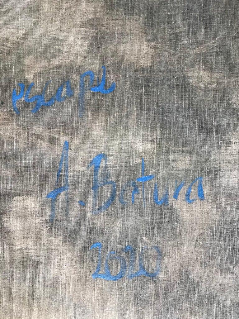 Escape - Large Format Contemporary Nature Oil Painting, Landscape, Mountains For Sale 5