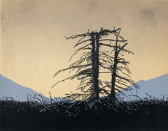End Of The Day - Contemporary Handmade Linocut,  Limited Edition 5/5