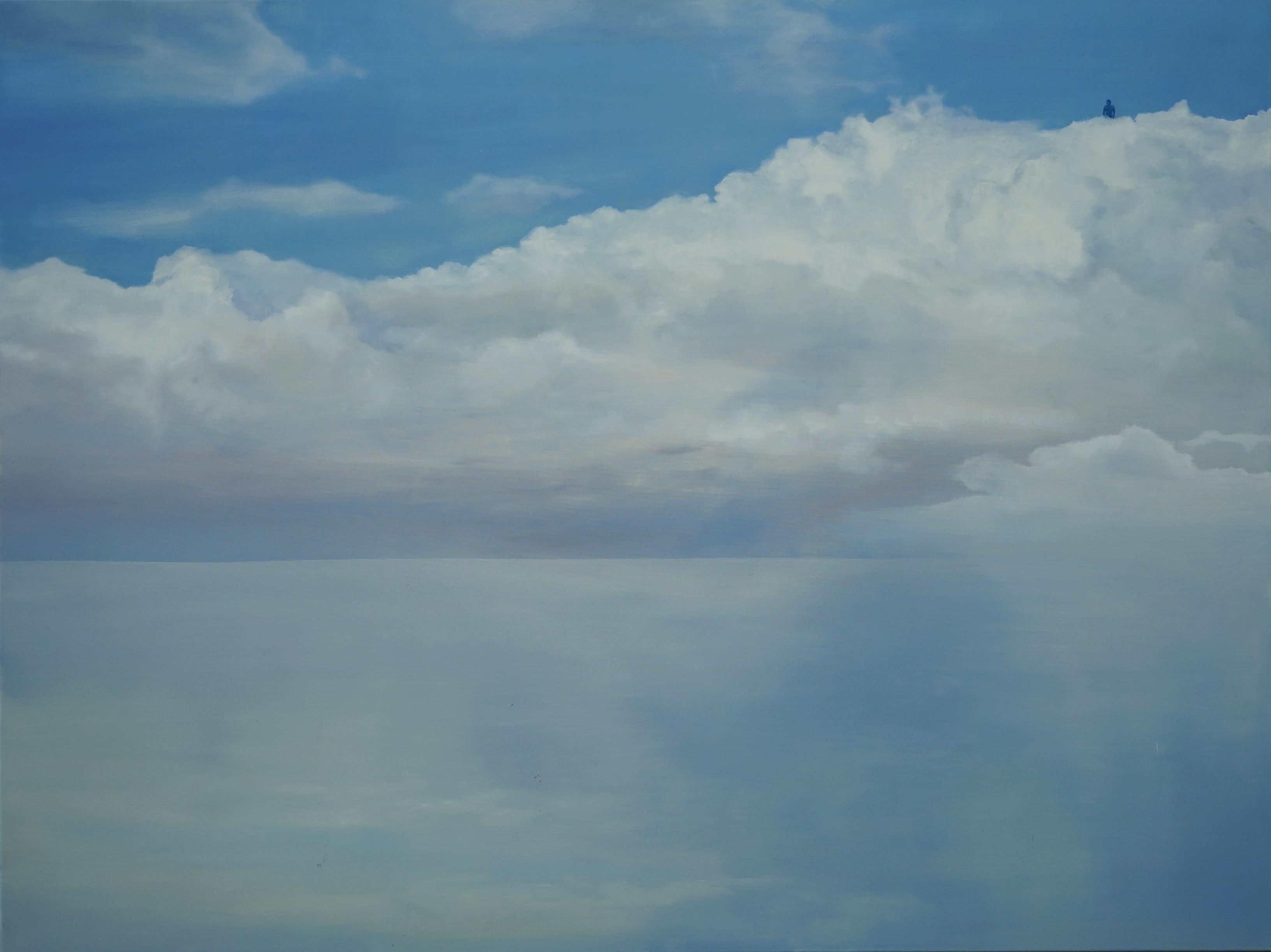 Agorafolia - Large Format Contemporary Nature Oil Painting, Landscape, Clouds