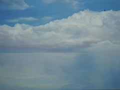 Agorafolia - Large Format Contemporary Nature Oil Painting, Landscape, Clouds
