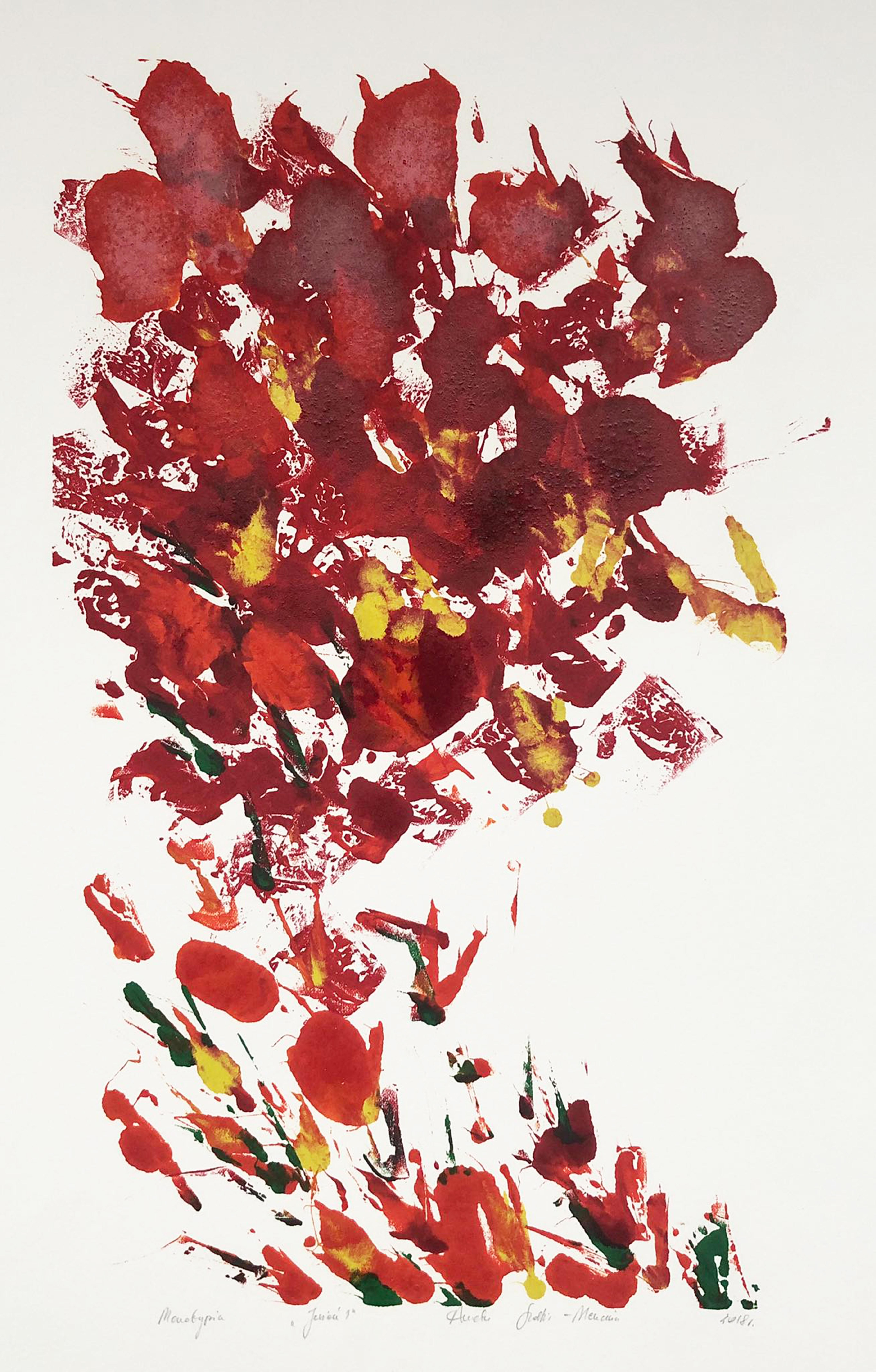 Autumn 1 -  Handmade Monotype Unique Print 1/1