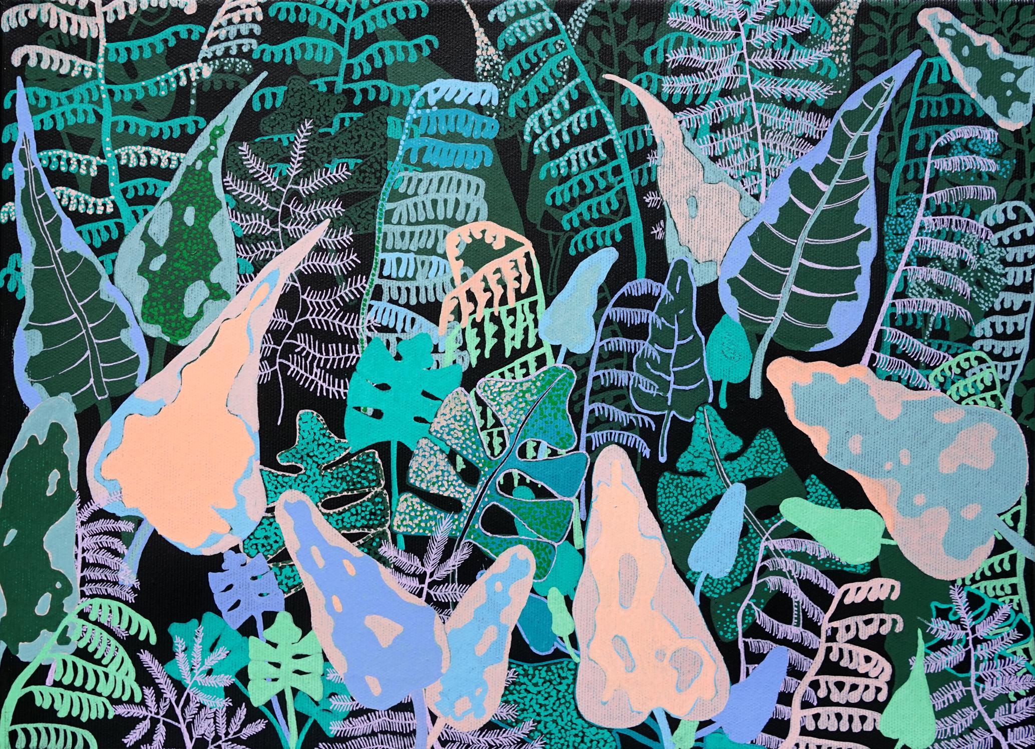 Jungla - Polish Young Art, Contemporary Figurative Painting, Nature, Plants