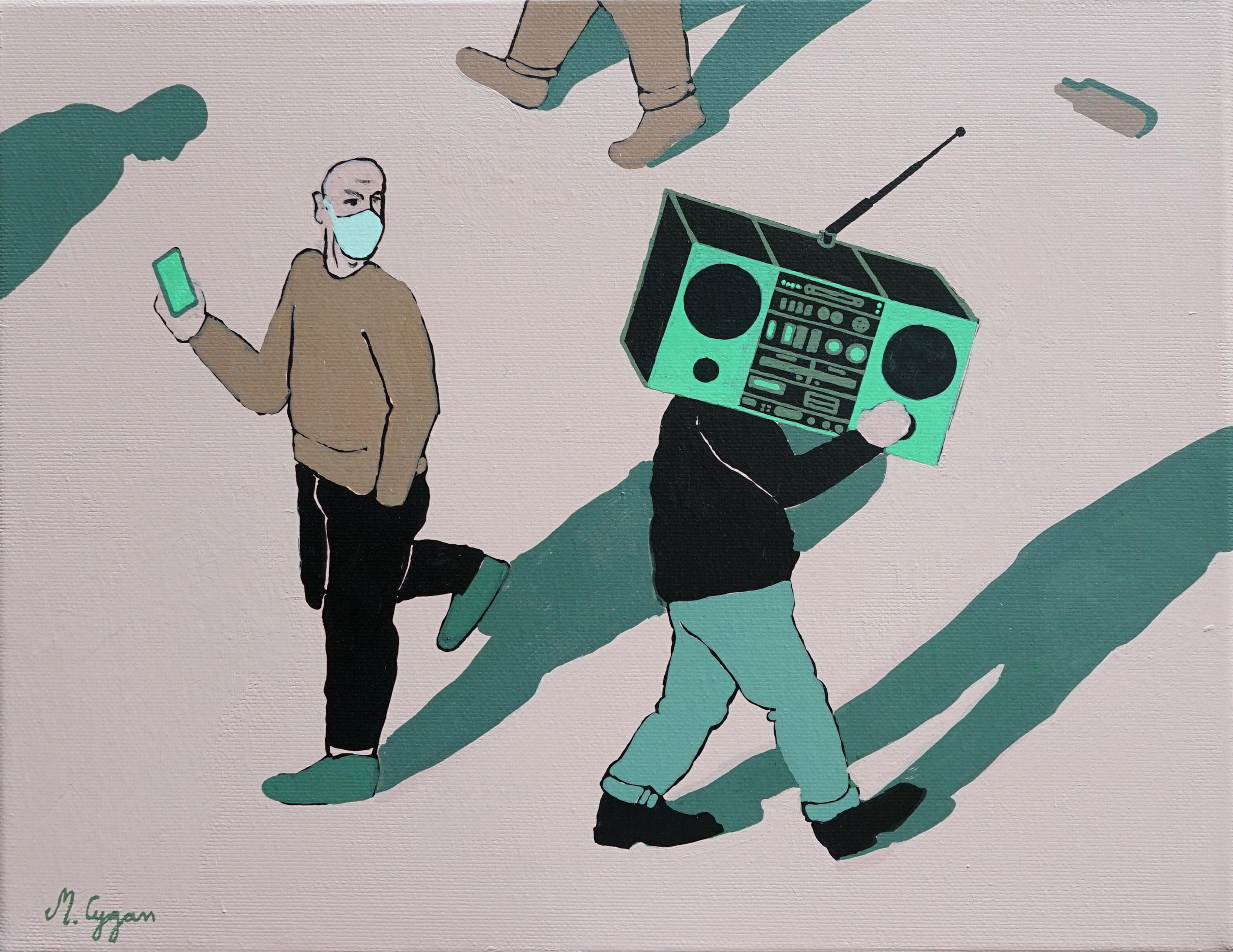 Boombox - Polish Young Art, Contemporary Figurative Painting, Street Art