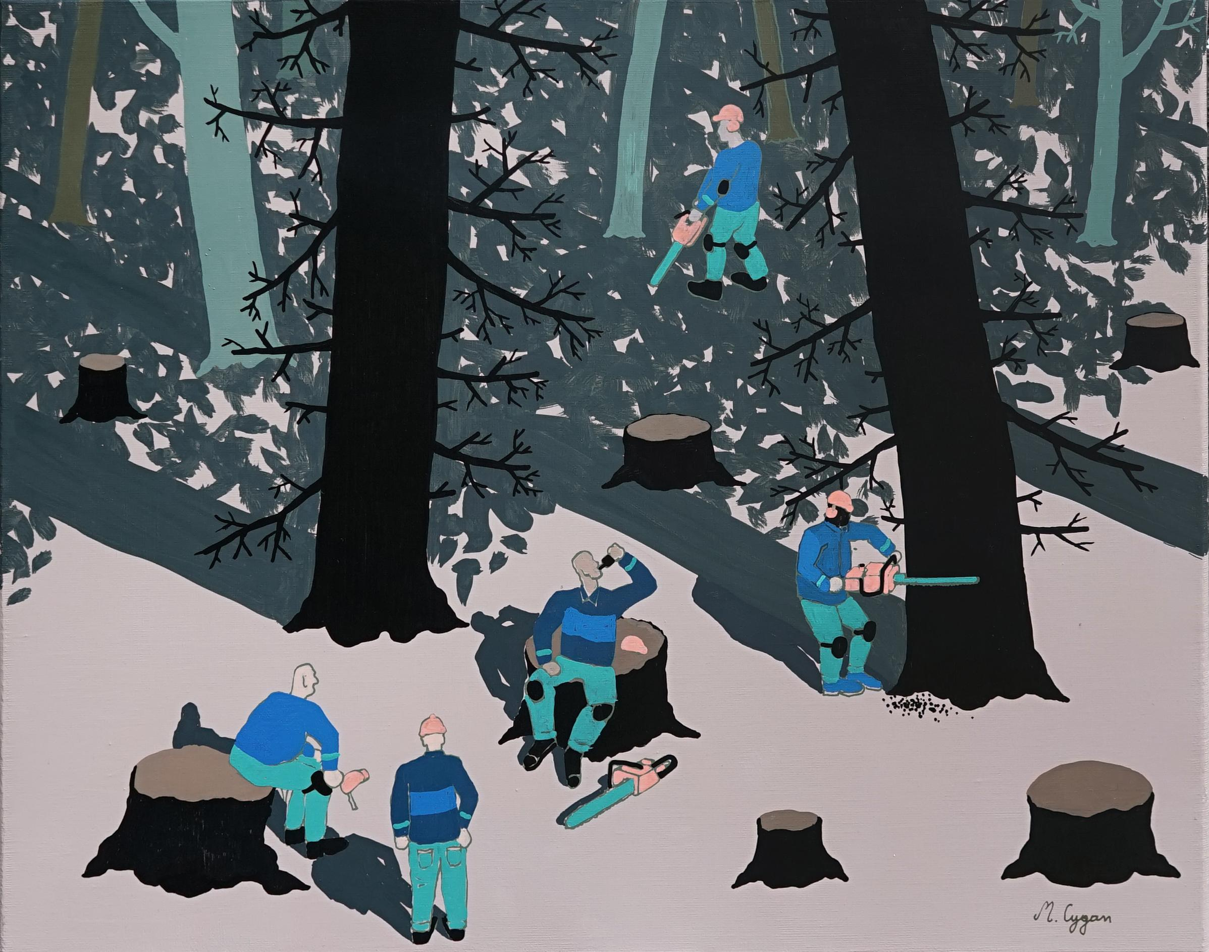 The Forest - Polish Young Art, Contemporary Figurative Painting, Street Art