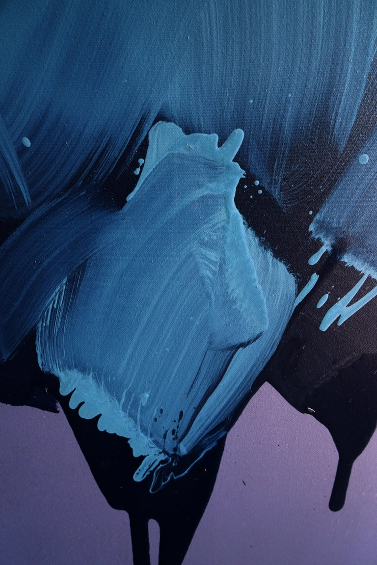 Artist about  his work:  BLOBS. THE CHARM OF DRIPPING PAINT  Flowing peacefully in the slow current of a narrow trickle between the feeling of senselessness and some deeply hidden hope or – rather – the need for sense, my painting is closing a