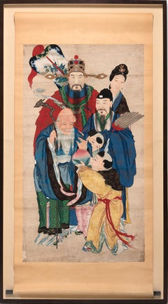 Chinese Lunar New Year Painted Scroll