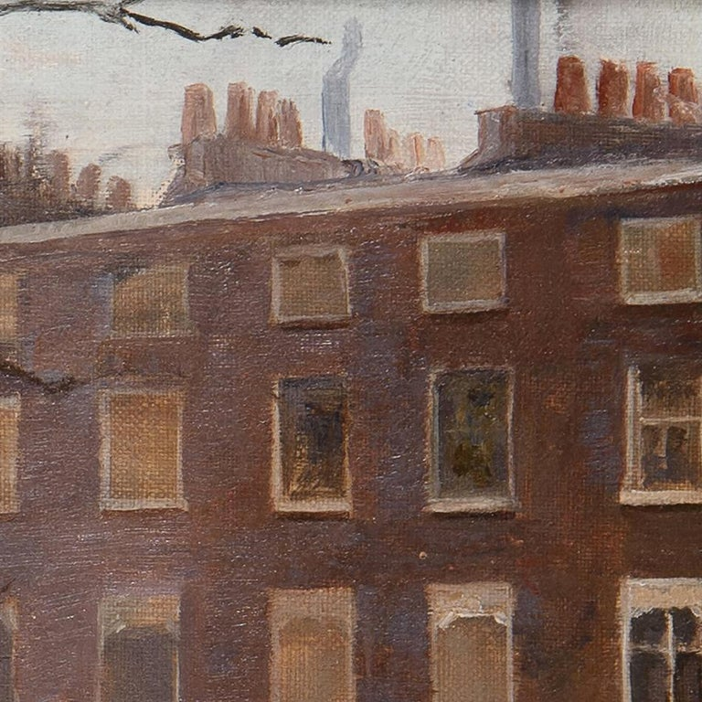 'A Snowy London Square', attributed to Frederick James Porter, 1920s landscape For Sale 1