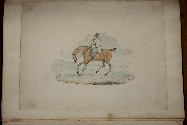 6 hunting drawings - 19th century watercolours of horses and dogs by Henry Alken For Sale 1