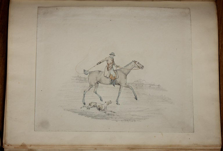 6 hunting drawings - 19th century watercolours of horses and dogs by Henry Alken For Sale 3
