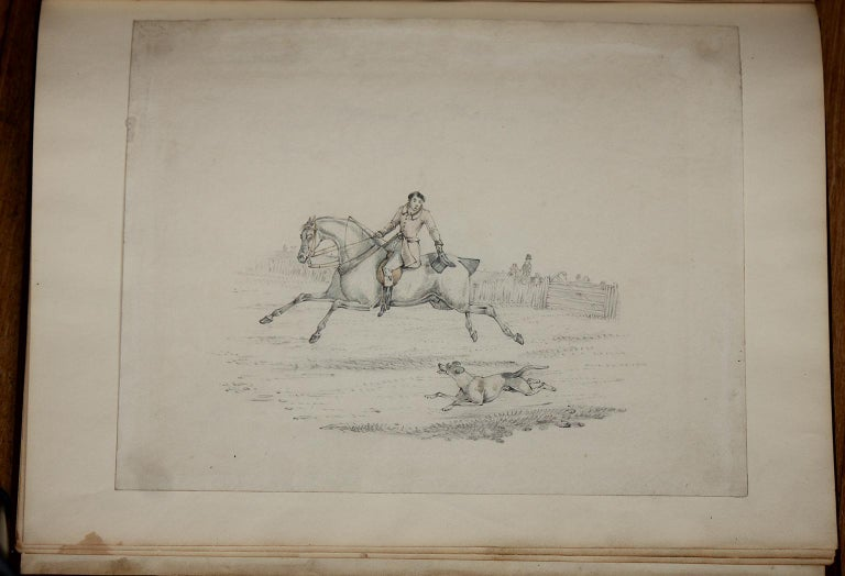 6 hunting drawings - 19th century watercolours of horses and dogs by Henry Alken For Sale 4