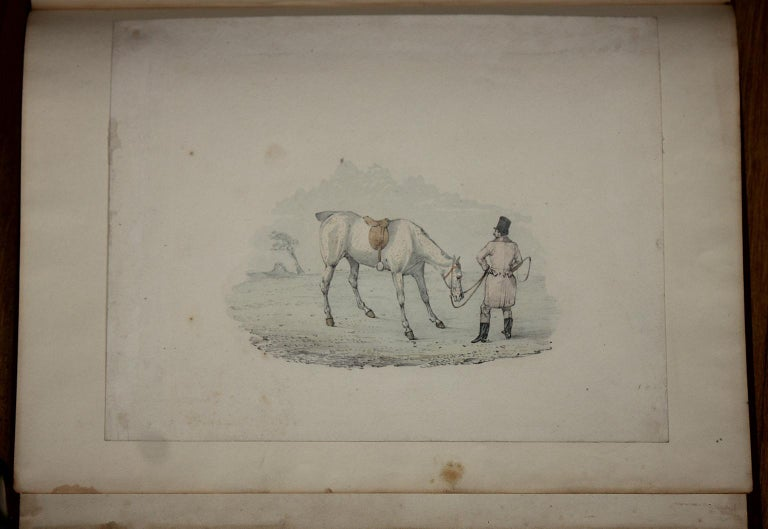 6 hunting drawings - 19th century watercolours of horses and dogs by Henry Alken For Sale 5