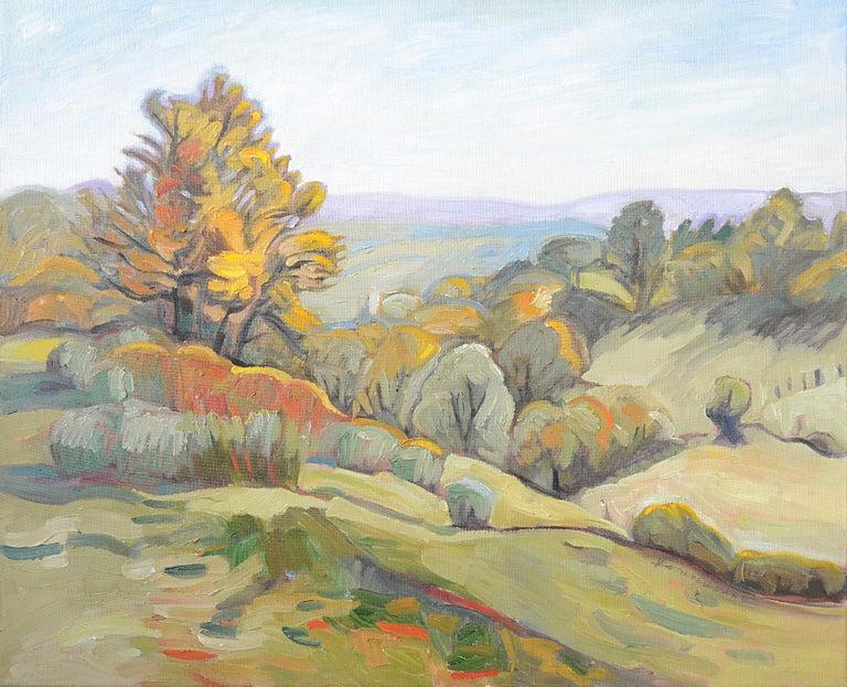 """Edge of the Valley"" (""Bord de vallon""), Impressionist Landscape Oil Painting 1"