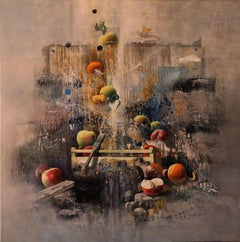 """Yellow Apples Called by the Grace"" Poetic Realistic Still-Life Oil Painting"