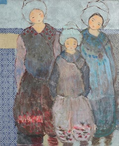 """Children of the World"" (""Enfants du monde""), Oil Painting, Katherine Dubourdieu"