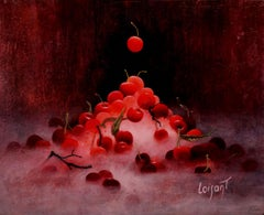 """""""Still-Life for Phararon"""" Poetic Realistic Oil Painting with Red Cherries"""