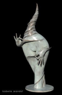 """The Jewel"" (""Le Joyau""), Oneiric Figurative Sensual Nude Bronze Sculpture"