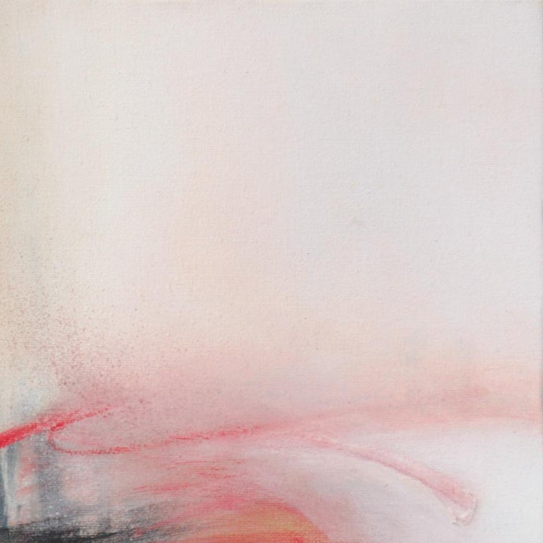 Red Beige Black and White Abstract Painting For Sale 5