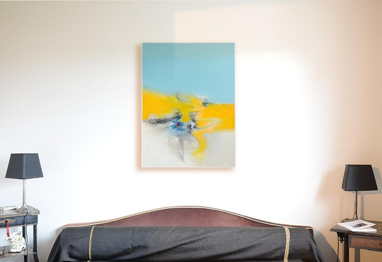 In his artworks, the painter Philippe Saucourt seeks the harmony of opposites between movement and flatness, between transparency and opacity, between density and emptiness, and between raw energy and refinement. Beyond these, his artworks reveal so