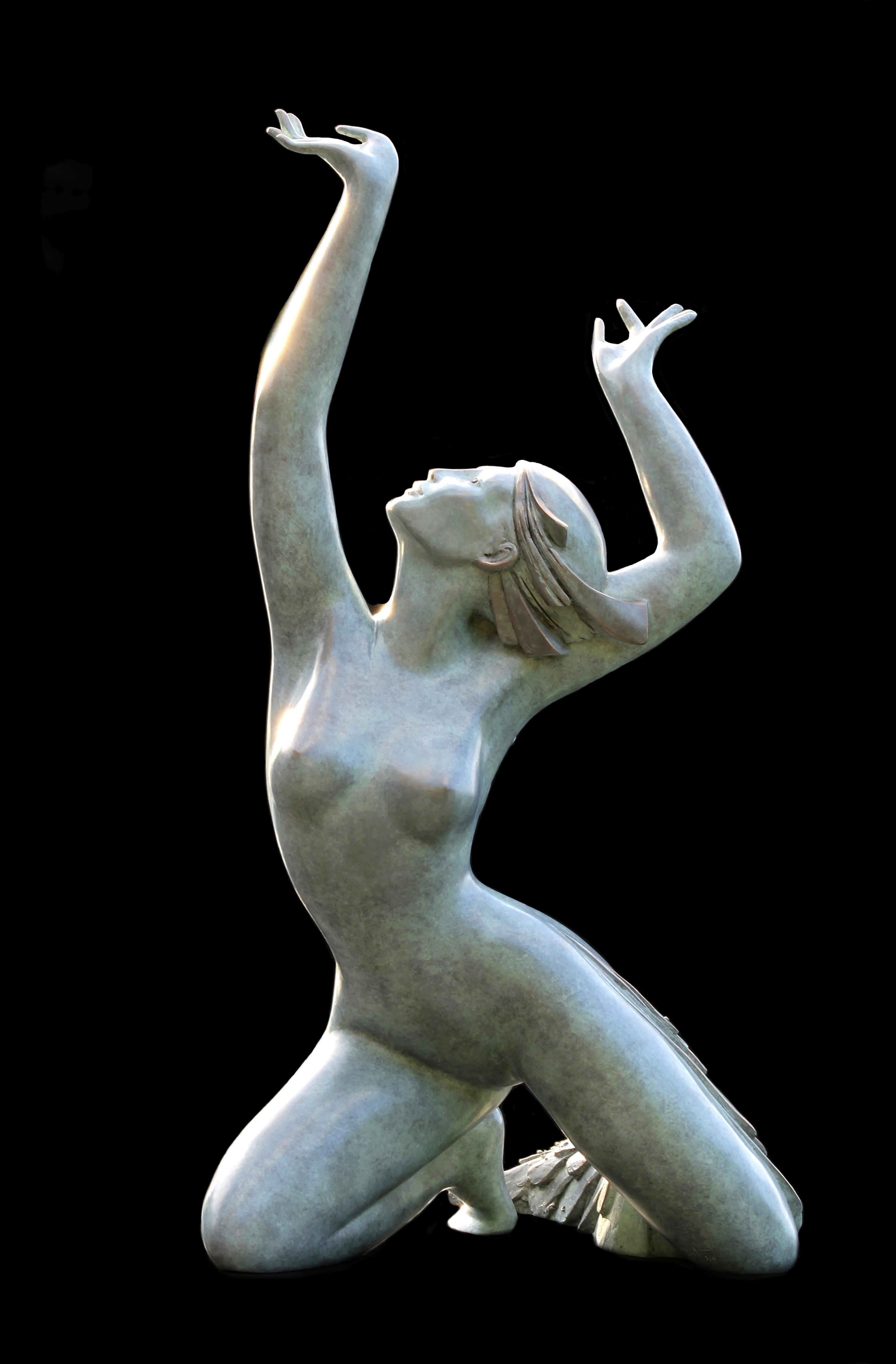 """""""Aphrodite"""", Figurative Nude Bronze Sculpture"""