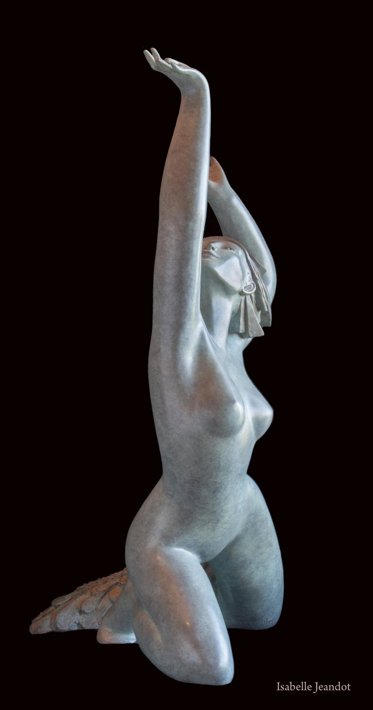 Aphrodite is the name of an ancient Greek goddess associated with love, beauty, pleasure, passion and procreation.  Passionate about the spirit, with her timeless and universal expression in the heart of the human condition, the artist Isabelle