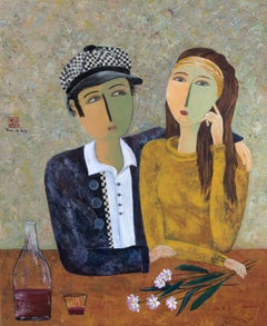 """Reflections"",  Figurative Portrait of Friends or Lovers in a Poetic Manner"
