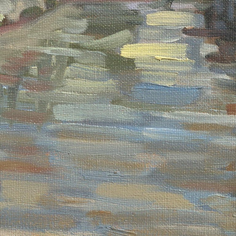 This artwork depicts the Dronne river going through Brantôme, the