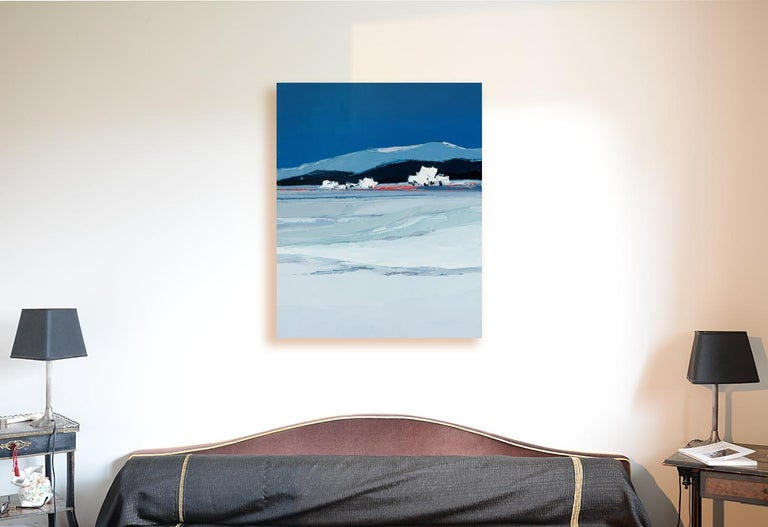 This piece is not framed.  Marcel Demagny is a French artist, former architect, mostly influenced by Nicolas de Staël, Pierre Ambrogiani and Bernard Cathelin.