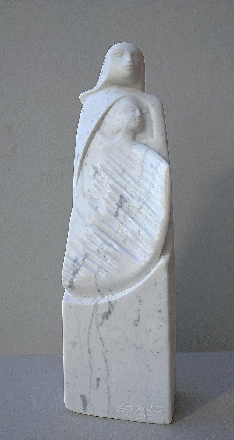 The Source, White Carrara Marble Stone Vertical Figurative Sculpture For Sale 3