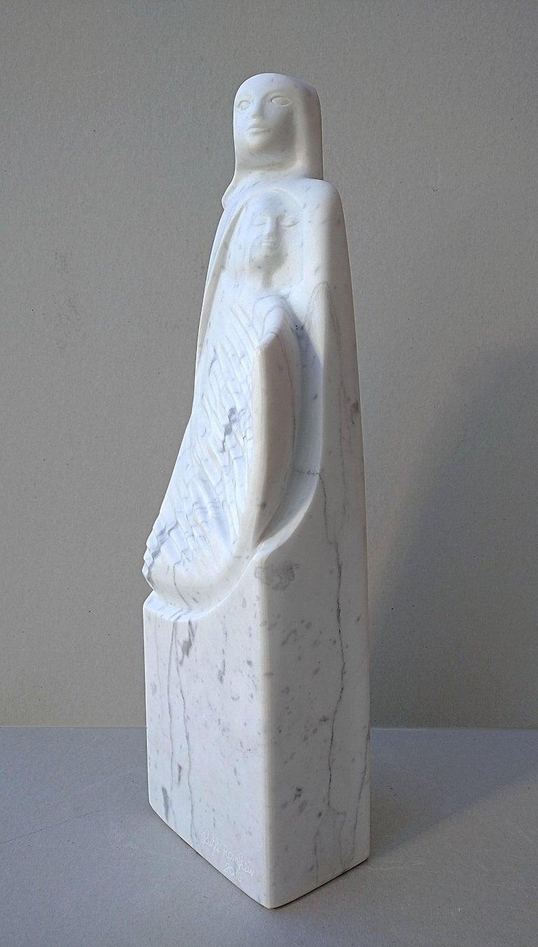 The Source, White Carrara Marble Stone Vertical Figurative Sculpture For Sale 4